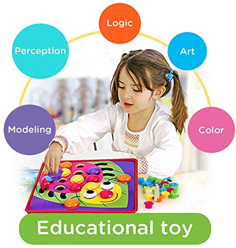 51IyZnPki6L : primero presione el botón de color en el tablero colgante de mosaico, luego su hijo puede crear una imagen de estilo de dibujos animados vívida única en el tablero colgante de acuerdo con su propia creatividad e imaginación. ¡Mejora las habilidades de diseño de tu hijo! : Hecho de materiales ABS amigables con el medio ambiente, el color es brillante, la superficie es redonda y suave y no daña la mano. El diseño del botón redondo proporciona la máxima seguridad para su hijo y juega con confianza. Satisfacer las necesidades de los niños y los padres y asegurar una vida más larga. Ha superado las normas de seguridad de pruebas y la certificación CE. : la placa para colgar es liviana y portátil, lo cual es muy adecuado para niños que esperan en el interior durante mucho tiempo. Es conveniente para los padres y los niños usar el tiempo libre, una bandeja de plástico, que puede organizar mejor el almacenamiento de los juguetes, almacenar los botones de manera conveniente y llevarlos a parques al aire libre, playas o vacaciones. Se recomiendan niños mayores de 2 años.