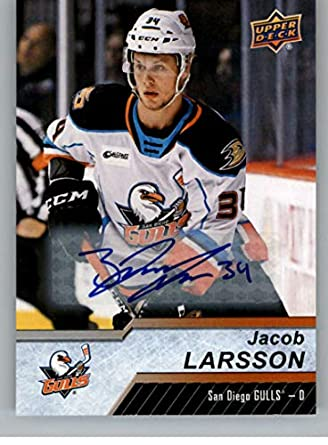 Amazon Com 2018 19 Upper Deck Ahl Autographs Hockey 16 Jacob