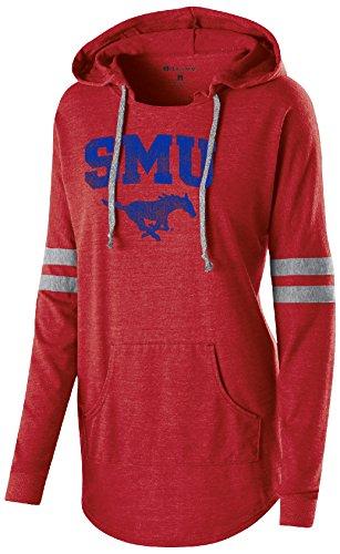 Mustangs Smu (Ouray Sportswear NCAA SMU Mustangs Women's Hooded Low Key Pullover Top, XX-Large, Vintage Scarlet/Vintage Grey)