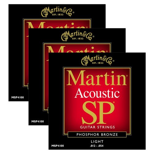Martin MSP4100 Light Phosphor Bronze Acoustic String (3 (Martin Msp4100 Light)