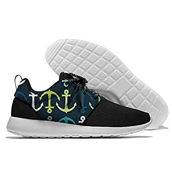 Anchor Pattern Men's Mesh Running Sports Shoes Sneakers Athletic Workout Fitness Trainers 44