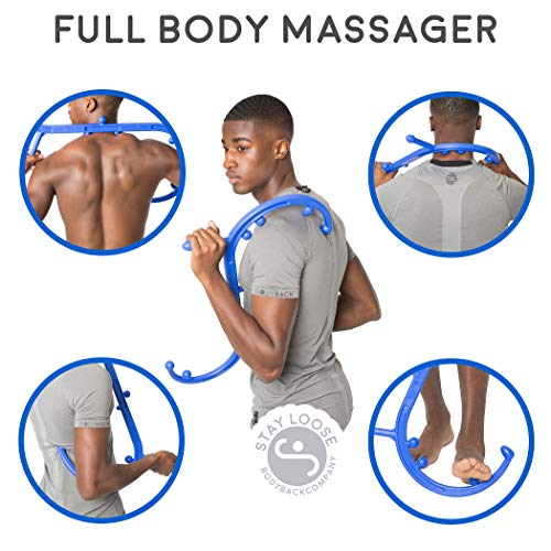 Body Back Buddy Self Massage Tool - Back, Neck, Shoulder, Leg & Feet Trigger Point Therapy & Deep Tissue Massager by Body Back Company (Full-sized Blue)