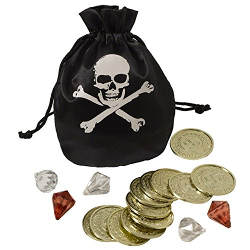 Amscan 840852 Pirate Pouch & Coin Set, One Size, Multicolor
