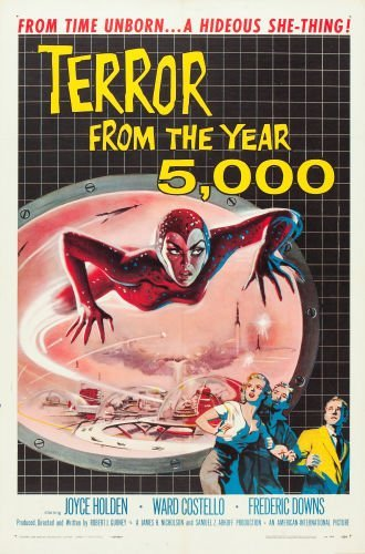Old Movie Poster Terror From The Year 5000