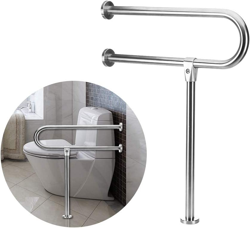 Amazon Com Handicap Rails Grab Bars Toilet Rail Bathroom Support For Elderly Bariatric Disabled Stainless Steel Commode Medical Accessories Safety Hand Railing Guard Frame Shower Assist Aid Handrails Hand Grips Home Improvement