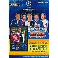 2019/20 Topps Match Attax Champions League Soccer Starter Box with 39 Cards Including EXCLUSIVE Limited-Edition Super Squad RONALDO Juventus Card & 2 Goalkeeper Cards! PLUS, Game Mat & Rules! WOWZZER!