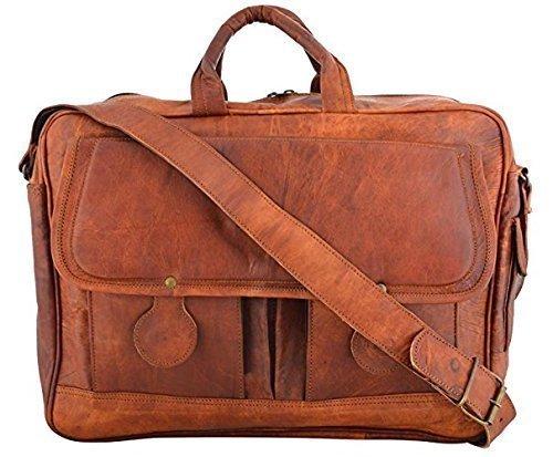 Sankalp Leather Bolsa de mensajero Piel, maletín, bolsa para ordenador portatil, 15 pulgadas