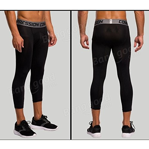 Bazaar Collants de compression mâles cyclisme jambières de sport pantalons de remise en forme de basket-ball shorts de course de formation talonnage