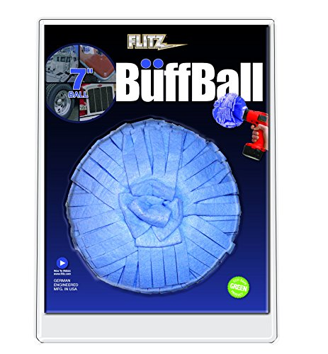 "Flitz WB201 Blue 7""  X-Large Original Buff Ball in Clamshell"