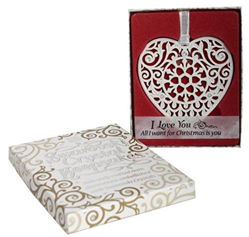 Swarovski Crystal Keepsake Love You Ornament, Multi