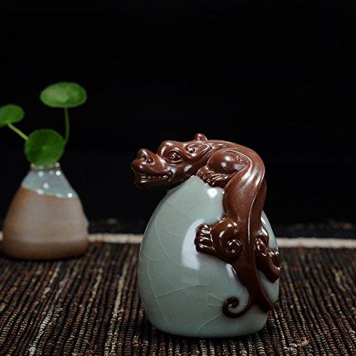 Hoobar Tea Pet Zisha Kung Fu Tea Accessories Pi-Xiu Ceramic Decoration Ornaments for Tea Fans (pixiu-2) ()