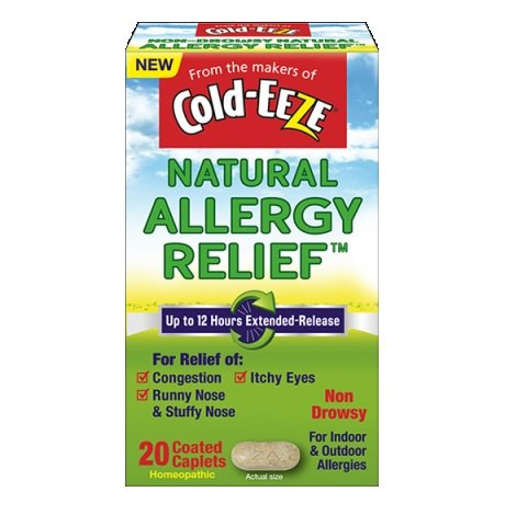 Cold-EEZE Natural Allergy Relief, Non-Drowsy, 20 Capsules Each (Pack of 12) by Cold-Eeze