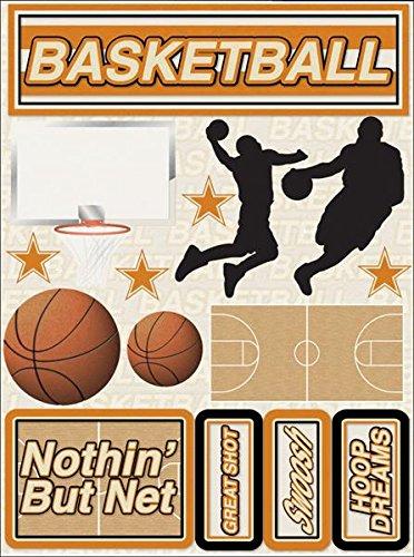 (Reminisce RSD-191 Signature Series Dimensional Cardstock Stickers-Basketball)