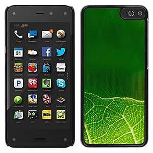 EJOY---Cubierta de la caja de protección para la piel dura ** Amazon Fire Phone ** --Hojas verdes