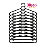 AZ Hanger set of 30, Black. Pants hanger, skirt hanger and shirt hanger in 1.