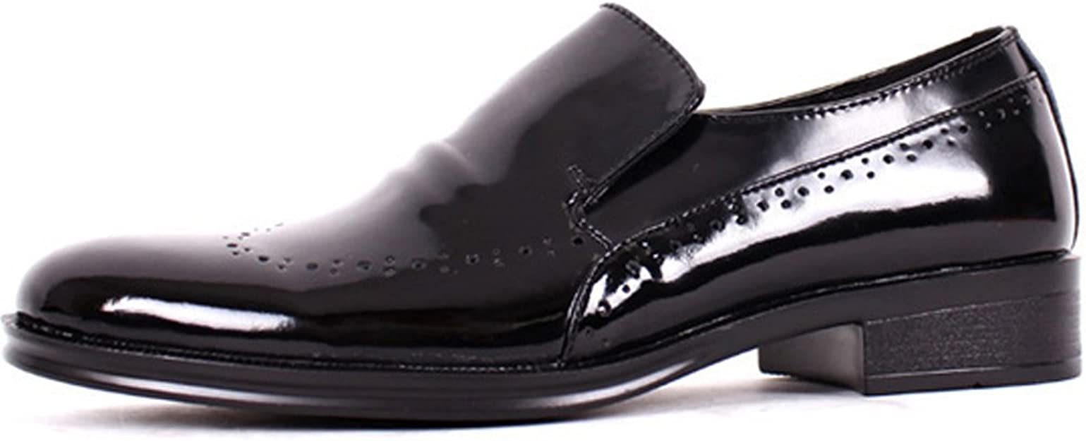 JustOneStyle New Model Leather Dress Loafers Black Mens Shoes