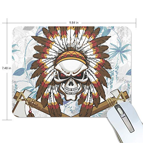 Mouse Pads,Indian and Tomahawk Premium Textured Mouse Mat Pad, Non Slip Rubber Base Mousepad for Gaming,Computer,Laptop