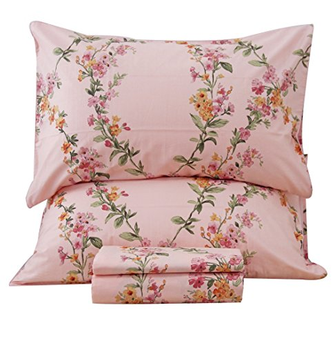 Queen's House Percale Egyptian Cotton Sheet Bedding Collection Sets King Size-B