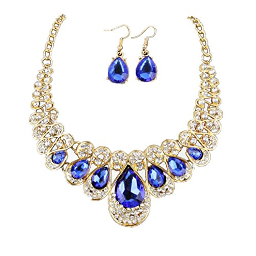 Affordable Costumes - ❤Todaies❤Women Fashion Crystal Necklace Jewelry Statement