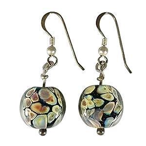 Sansukjai Marble Store Lampwork Earring Murano Glass Effetre Glass Italy
