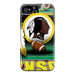 Great Hard Phone Covers For Iphone 4/4s With Customized Beautiful Washington Redskins Series CharlesPoirier
