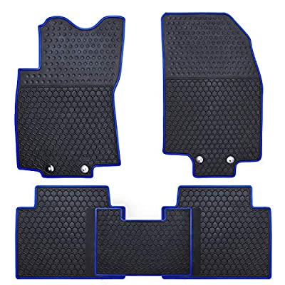 Ucaskin Car Floor Mats Custom Fit for Nissan Rogue 2014 2015 2016 2020 2020 2020 2020 Odorless Washable Rubber Anti-Slip All Weather Protection Car Floor Liner-Blue: Automotive