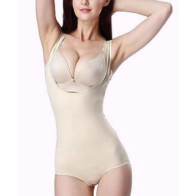 bd17628eeaca3 Amazon.com  TUKURIO Women Open Butt Slimming Full Body Shapers Sexy Lift  Bras Corset Control Belly Bodysuits  Clothing