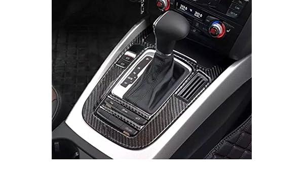 Cubierta de la consola central con palanca de cambios, de carbono flexible, accesorio para el coche, con emblema: Amazon.es: Coche y moto