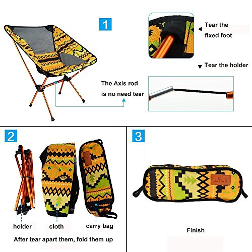 Azarxis Mini Camping Stool Chair Seat Folding Low Lightweight Heavy Duty Compact Ultralight Portable for Army Fishing Backpacking Hiking Picnic Lawn Camp Garden for Kids Teens