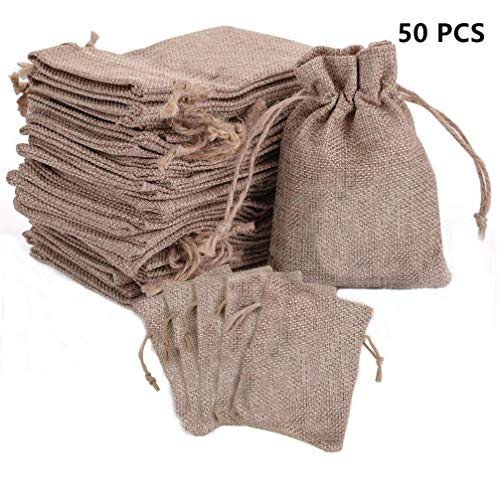 Drawstring Burlap Bags with Store Gift Bags Topwell 50PCS...