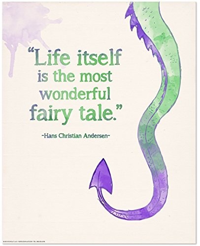 (The Most Wonderful Fairy Tale Inspirational Children's Literature Hans Christian Andersen. Literary Quote Print. Fine Art Paper, Laminated, or Framed. Multiple Sizes Available )