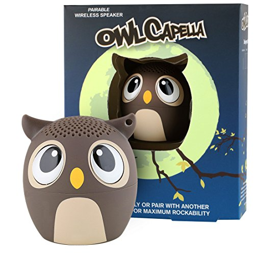 My Audio Pet Owl Mini Bluetooth Animal Wireless Speaker for Kids of All Ages - True Wireless Stereo Technology – Pair with Another TWS Pet for Powerful Rich Room-Filling Sound - (OWLcapella Brown)