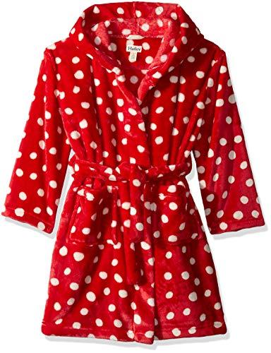Hatley Girls' Toddler Fuzzy Fleece Robes, Polka dots, Small (2-3 Years) (Robe Christmas)