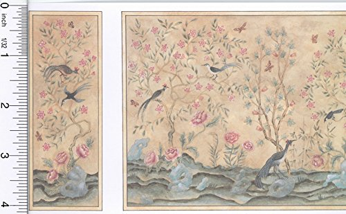Jackson Miniatures Dollhouse Wallpaper Chinoiserie Panels