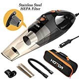[Upgraded] Car Vacuum Cleaner with LED Light, HOTOR DC12-Volt Wet/Dry Portable Handheld Auto Vacuum...