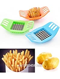 Take 1 PCS Stainless steel potato cutting device cut fries device French Fry Potato Chip Cutter Vegetable Fruit Slicer... deliver