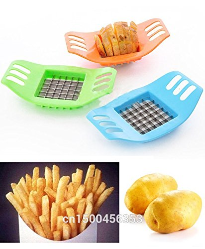 Take 1 PCS Stainless steel potato cutting device cut fries device French Fry Potato Chip Cutter Vegetable Fruit Slicer Chipper Blade deliver