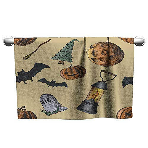 Towels Set of Icons for Halloween Absorbent Towel Hand Towels 14 x 14 Inch