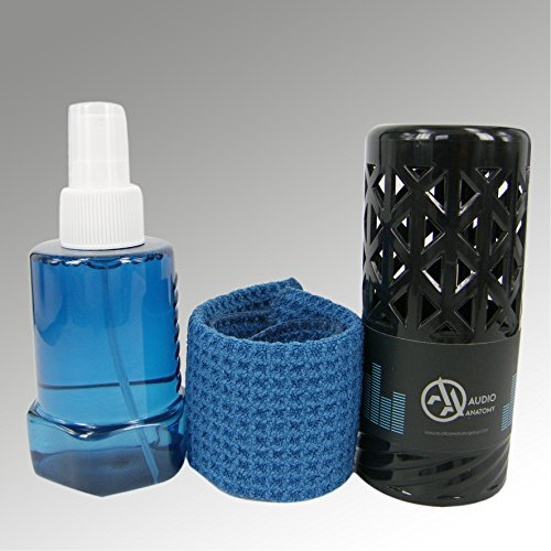 Record Cleaner Alcohol-Free Fluid (150ml) + 20x20cm microfiber cloth - Deluxe Audio Anatomy Liquid Cleaner - Deluxe Fluid
