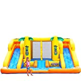 Blast Zone Rainforest Rapids Inflatable Water Park Bouncer with Slides