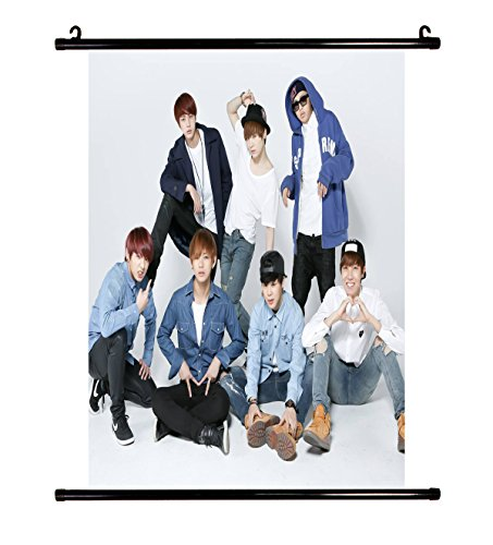 (BTS Kpop Bangtan Boys Wall Scroll Cloth Poster with lomo Cards)