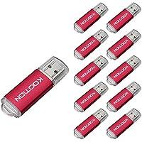 KOOTION 10PCS 2GB USB 2.0 Flash Drives 10 Pack USB Flash Drives Pen Drive Memory Stick Thumb Drive USB Drives, Red