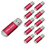 KOOTION 10PCS 16GB USB 2.0 Flash Drive Package Deal Memory Stick Thumb Storage Pen Disk in Red (16GB, Red)