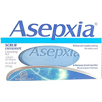 Asepxia Scrub Cleansing Soap 4 oz Bar (4 Bars)