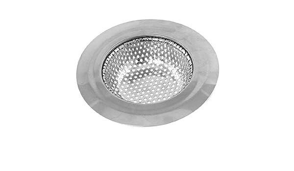 eDealMax cocina fregadero cuarto de baño colador Stopper 4.4 pulgada superior Dia tono de plata - - Amazon.com