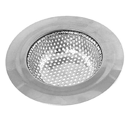 eDealMax cocina fregadero cuarto de baño colador Stopper 4.4 pulgada superior Dia tono de plata