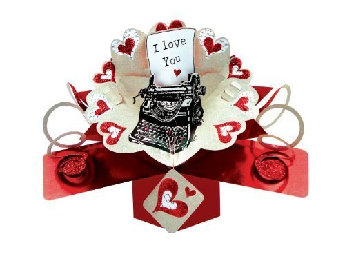 Used, Second Nature Valentine's Day Pop Up Card with a Typewriter for sale  Delivered anywhere in USA