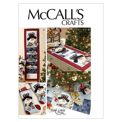 McCall Patterns M6454 Stocking, Runner, Tree Skirt and Card Holder, One Size Only