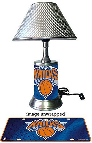 New York Knicks Lamp (New York Knicks Lamp with chrome shade)