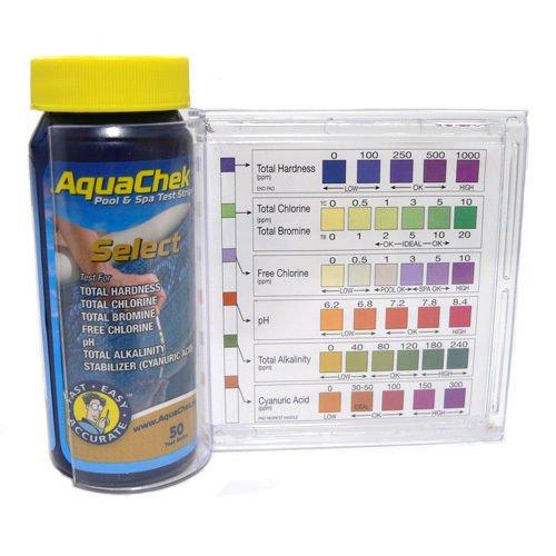 AquaChek Select 7-in-1 Pool Spa Test Kit w/ Plastic Guide &